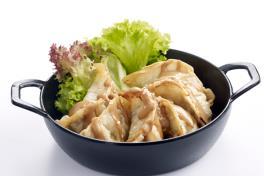 Fried Pork Dumplings with BBQ Mayo