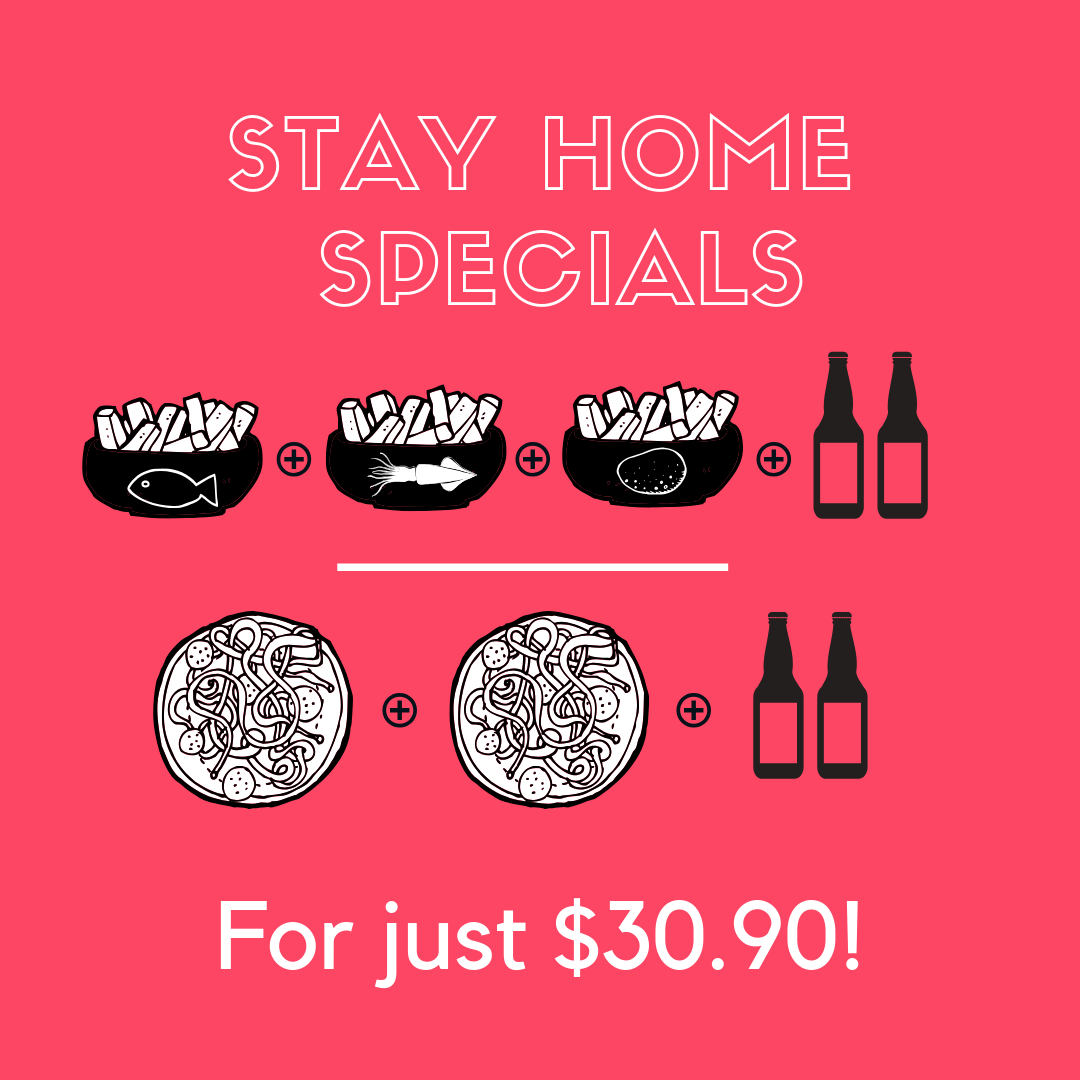 STAY-HOME SPECIALS!
