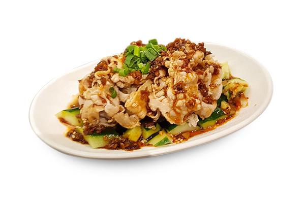 AP 05 蒜泥白肉 Pork Belly With Crushed Garlic おろしニンニク風味豚バラ巻