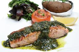 0921A/B Pan-fried Salmon Pesto