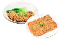 🌶️ SN 04  酥脆腐皮虾饼招牌面 Signature Noodle With Crispy Prawn Pancake サクサク海老パンケーキと麺