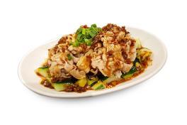 🌶️ AP 05 蒜泥白肉 Pork Belly With Crushed Garlic おろしニンニク風味豚バラ巻