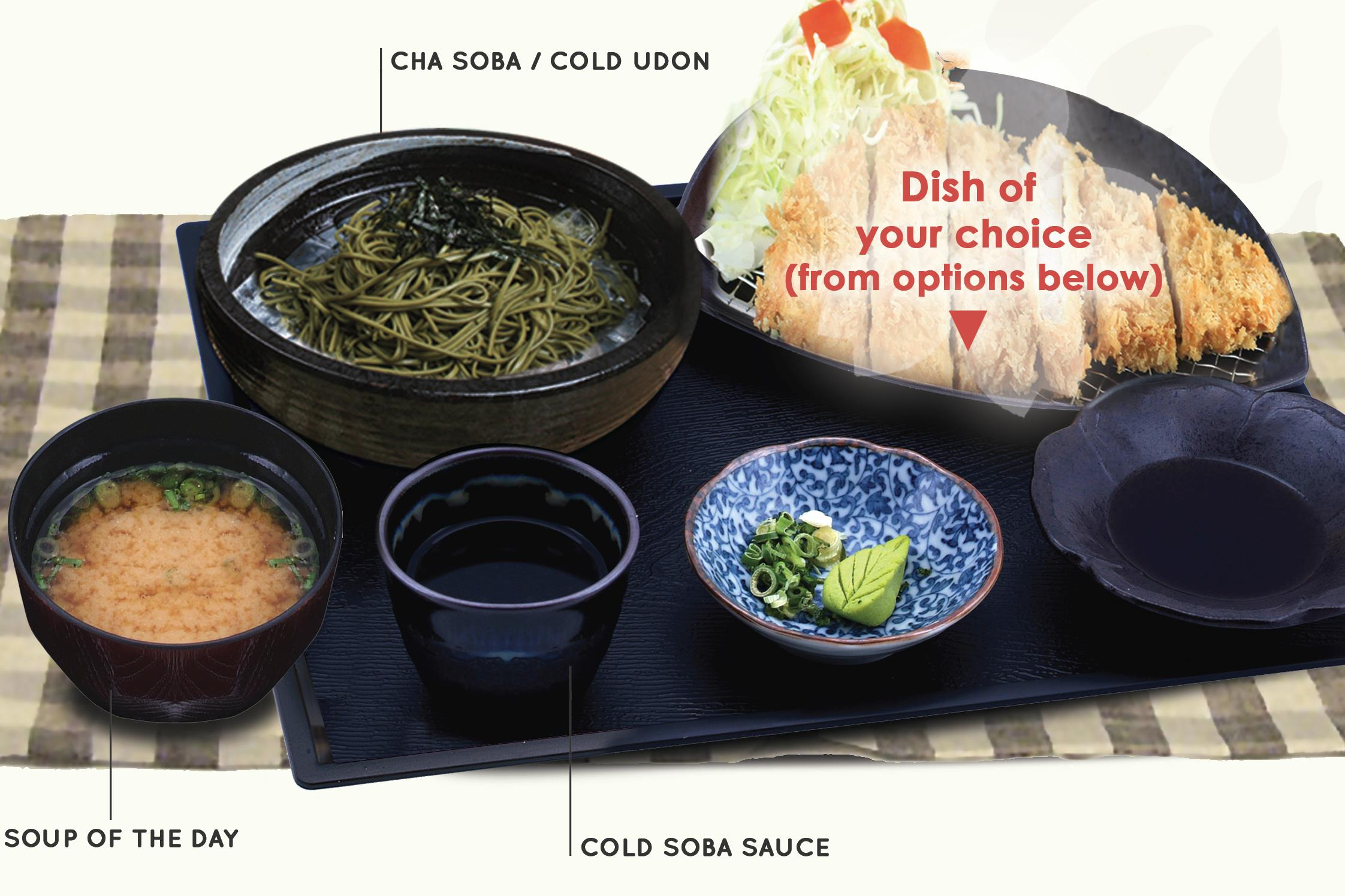 COLD SOBA & UDON SET MEAL