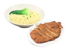 ND 06 炸排骨拉面 Noodle With Fried Pork Chop ポークチョップとラーメン