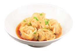 SK 10 干拌鮮蝦肉雲吞(含豬肉) Shrimp & Pork Wanton in Chicken Broth  (6pcs)