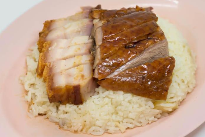 Roasted Pork with Duck Rice 火鸭饭