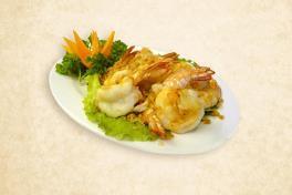 Fried Prawns with Garlic Pepper - 蒜泥虾球