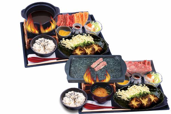 JAPANESE - しゃぶしゃぶ鉄板焼き定食 SET MEAL SHABU-SHABU/ TEPPANYAKI