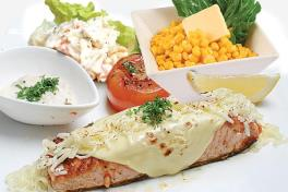 0924B Pan-fried Salmon Cheddar Cheese (w/ 2 Side Dishes)