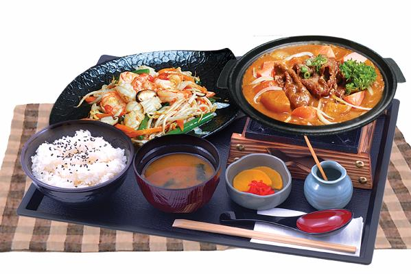 SET MEAL HOT PLATE お好み定食