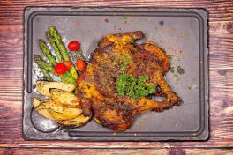 Whole Roasted Spring Chicken with Rabat Spices
