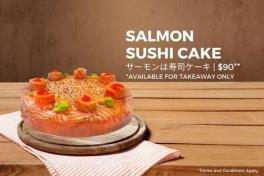 Salmon Sushi Cake