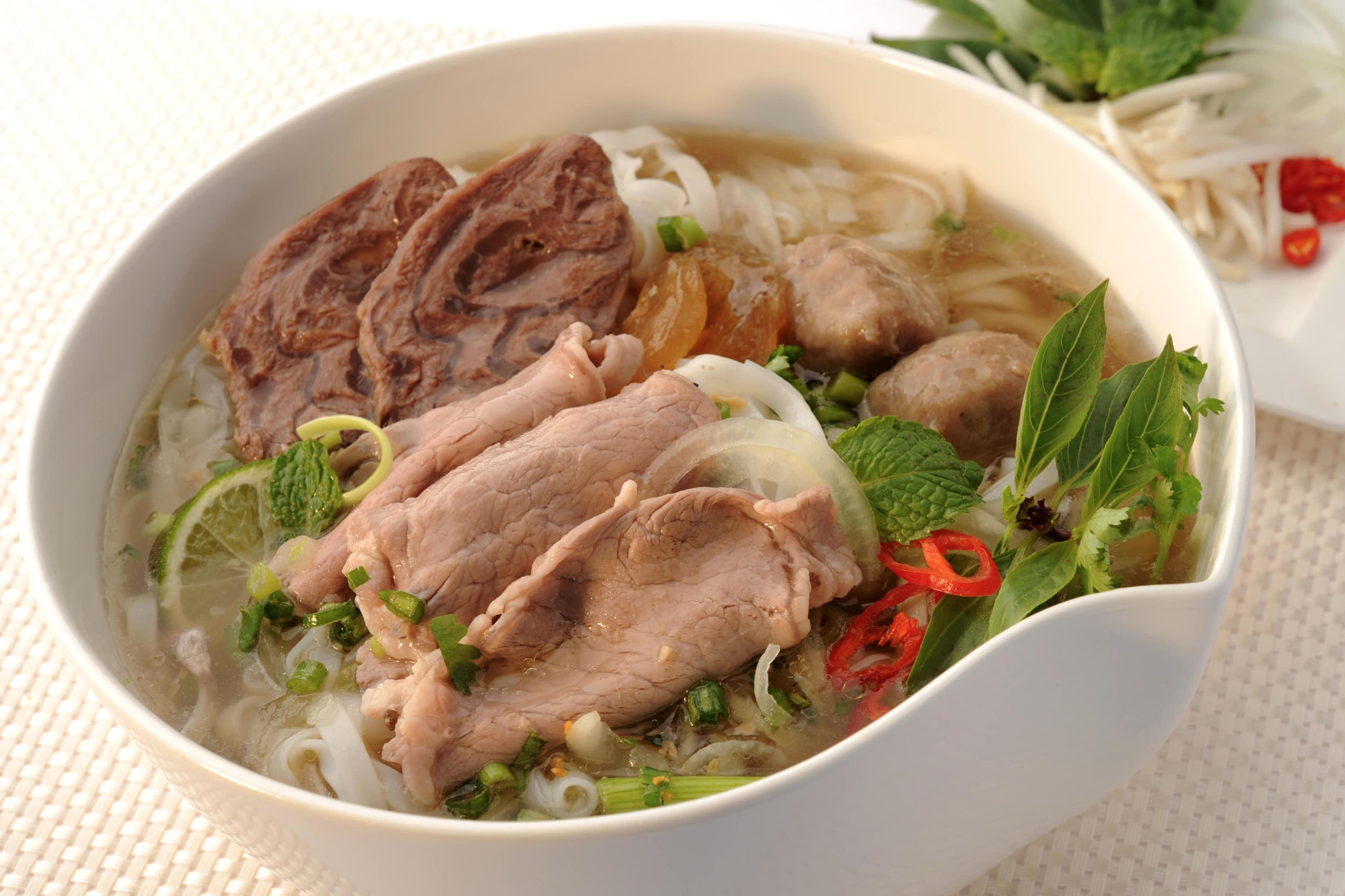 "Vietnamese ""Pho"" - Sliced Beef, Brisket and Beef Balls Noodle Soup"