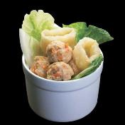 Chinese Cabbage Fish Maw & Meatballs Soup<br>鱼鳔肉丸白菜汤