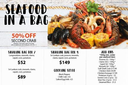 Seafood in a Bag