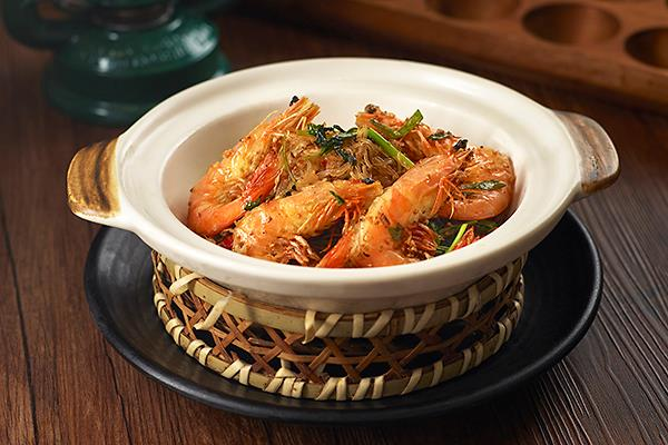 Claypot Fried Tang Hoon with Prawn