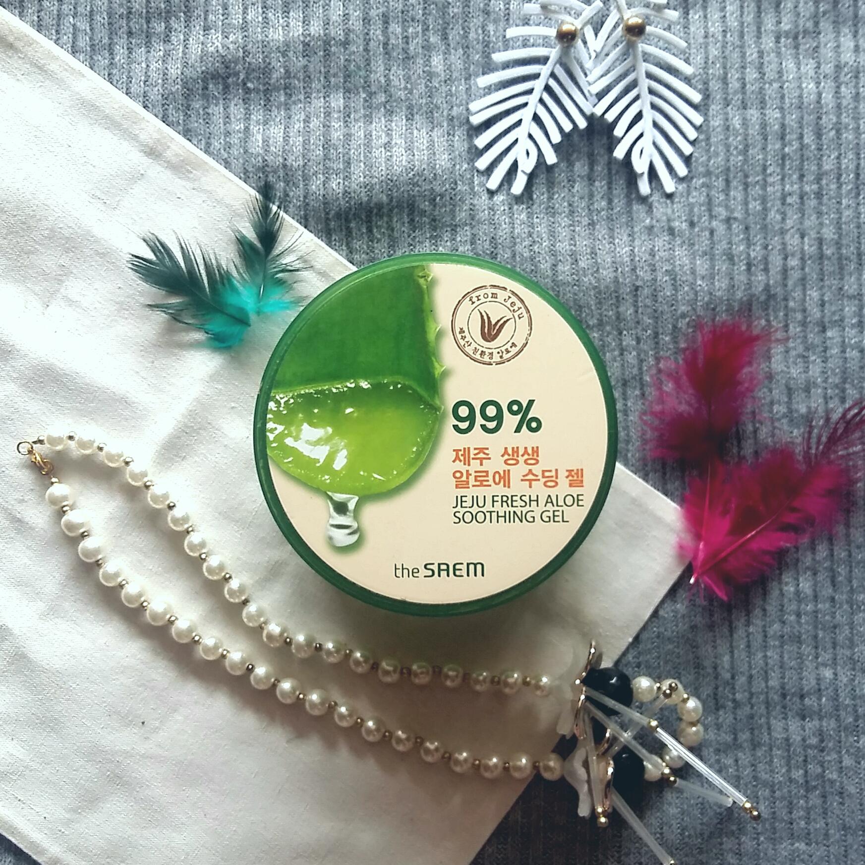 Review The Saem 99 Jeju Fresh Aloe Vera Soothing Gel Dari Korea Beauty K Shooting