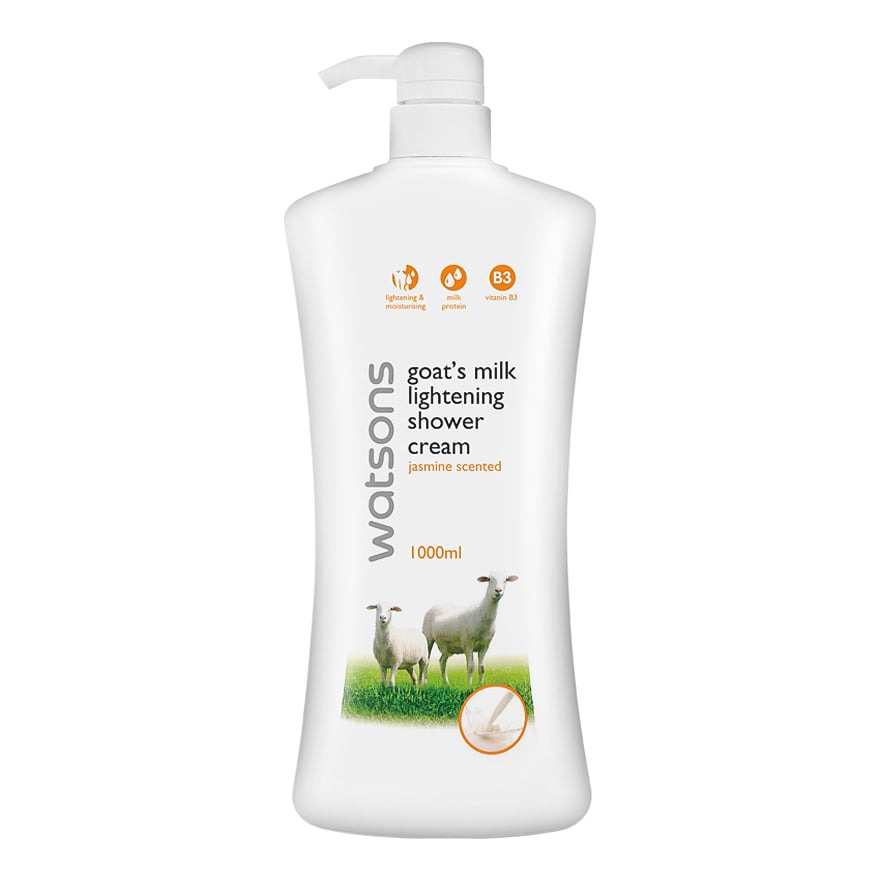 Watson Goat Milk Lightening Jasmine Scented Shower Cream