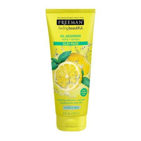 Freeman Beauty OIL ABSORBING mint + lemon CLAY MASK