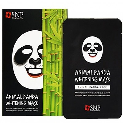 SNP Animal Panda Whitening Mask Tea
