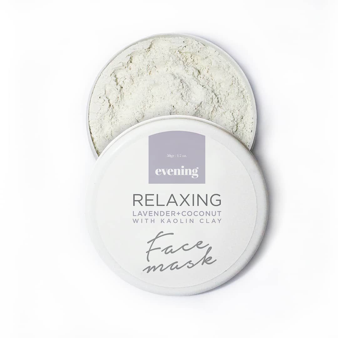 Evening RELAXING Lavender+Coconut with Kaolin Clay Face Mask