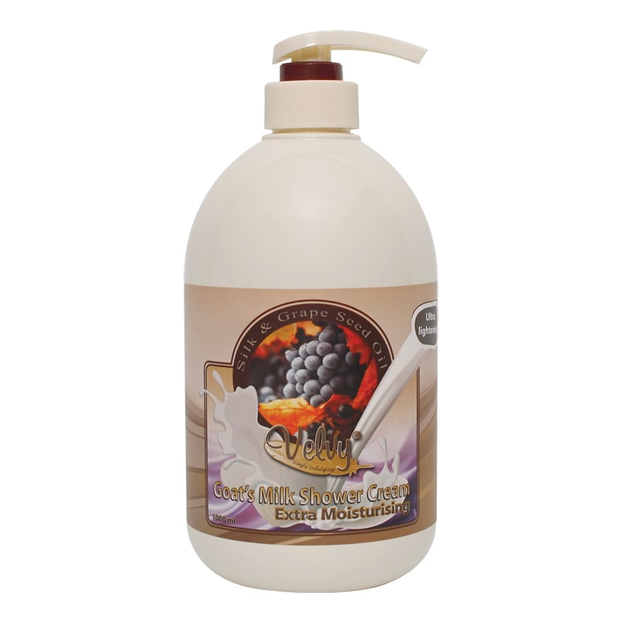 Velvy GOAT'S MILK SHOWER CREAM EXTRA MOIST SILK PUMP