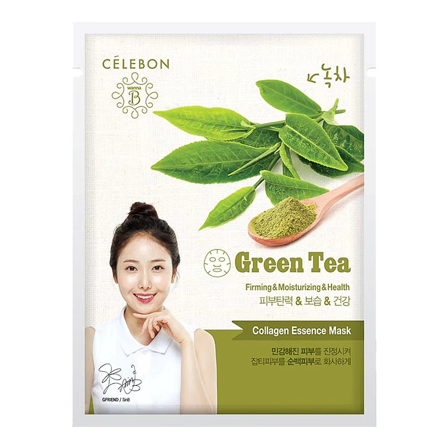 Celebon COLLAGEN ESSENCE GREEN TEA MASK