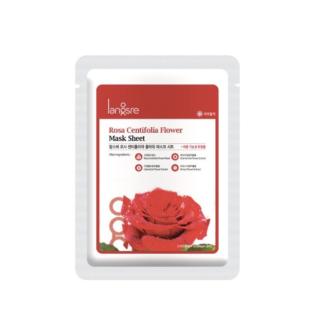 Langsre Rose Centifolia Flower Mask Sheet