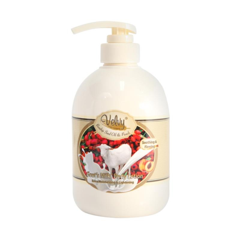 Velvy Goat's Milk Body Lotion Rosehip Seed Oil & Peach