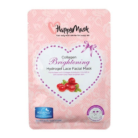 Happy Mask Collagen Hydrogel Lace Facial Mask (Brightening)