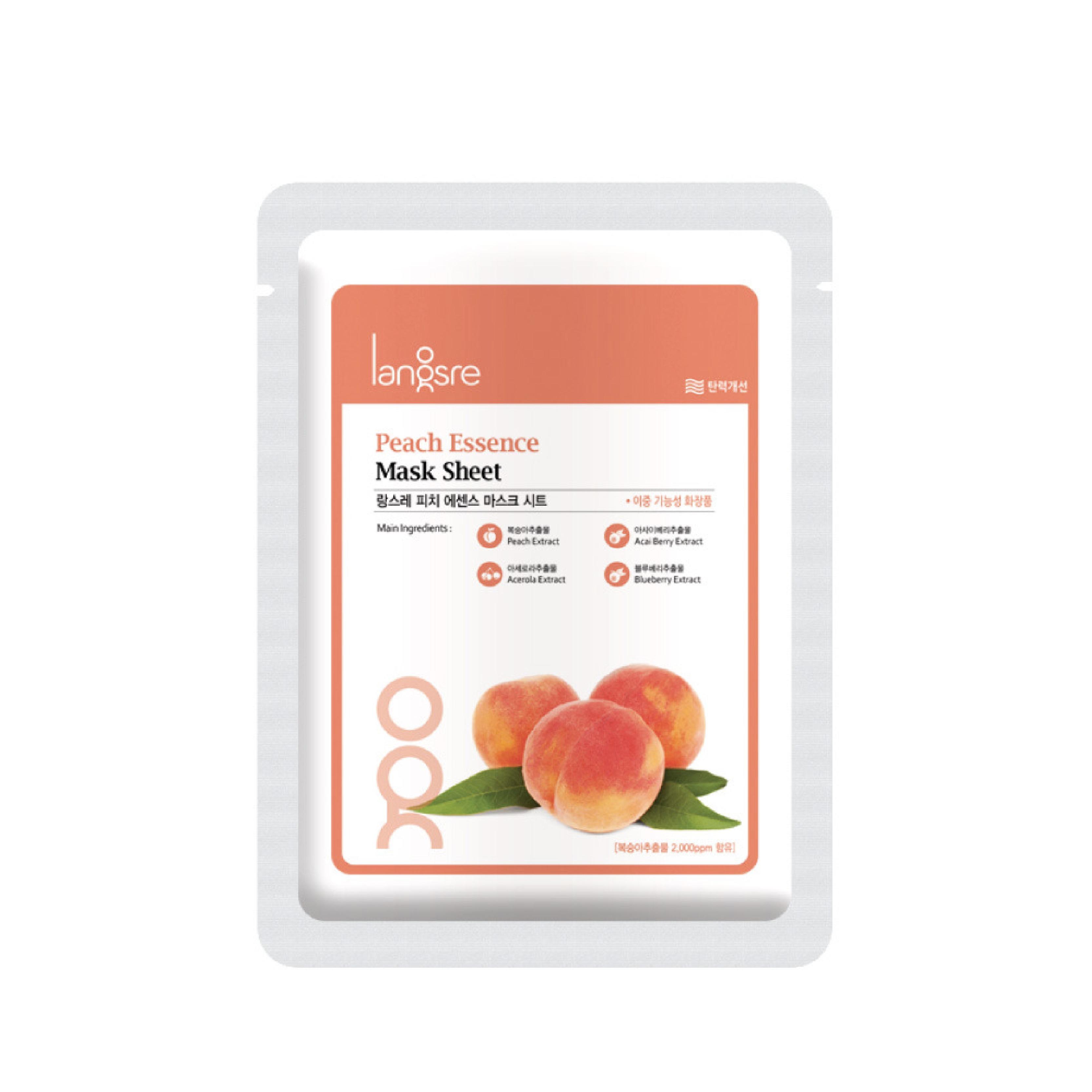 Langsre Peach Essence Mask Sheet