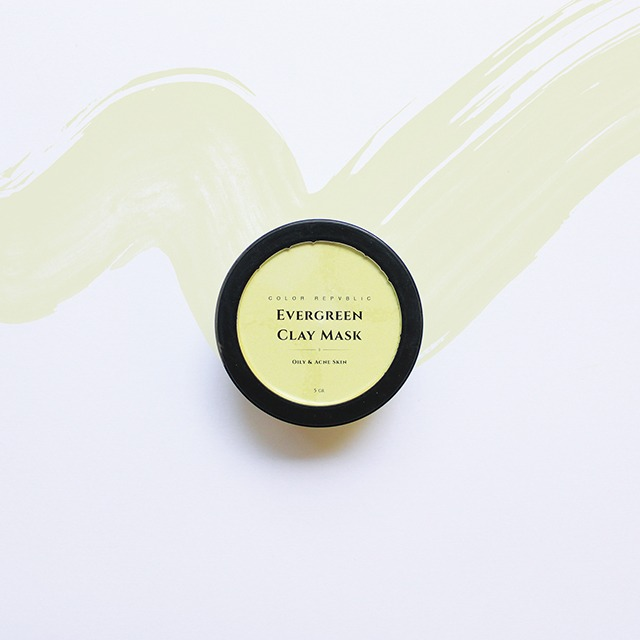 Color Repvblic Ever Green Clay Mask - for Oily and Acne Skin