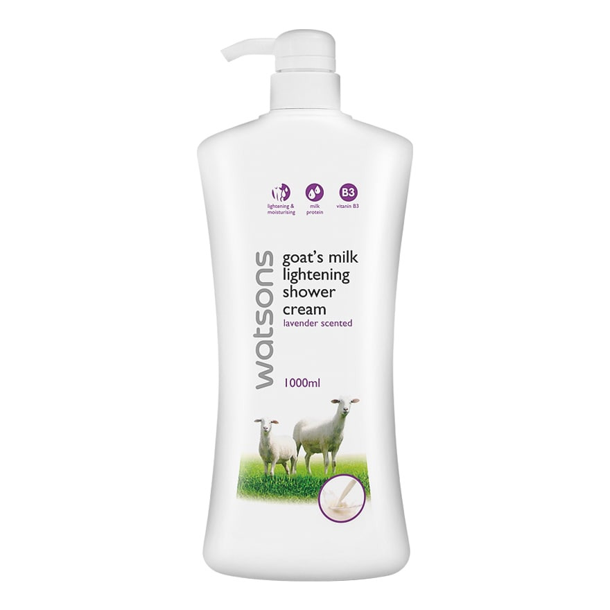 Watson GOAT MILK LIGHTENING LAVENDER SCENTED SHOWER CREAM