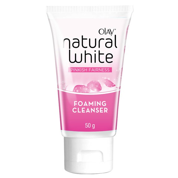 Olay Natural White Pinky Fairness Foaming Cleanser