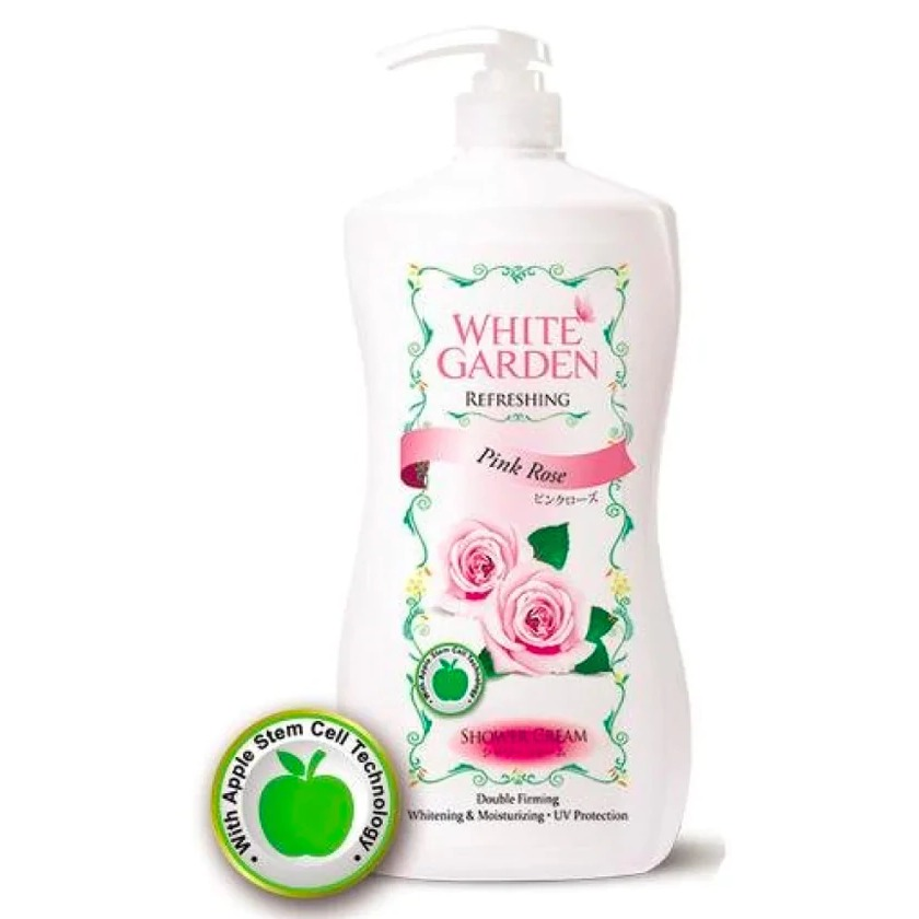 White Garden Shower Gel Pink Rose