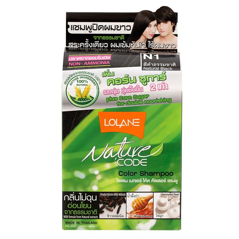 Lolane Nature Code Color Shampoo Black