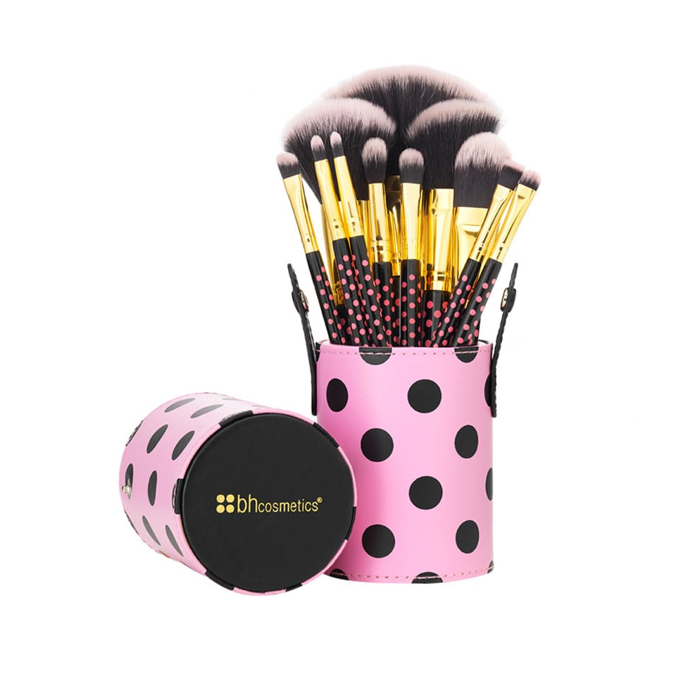 BH Cosmetics Pink A-Dot Brush Set