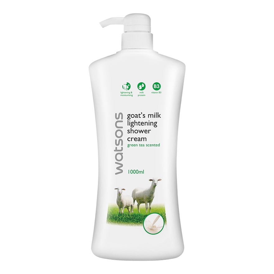 Watson Goat Milk Lightening Green Tea Scented Shower Cream