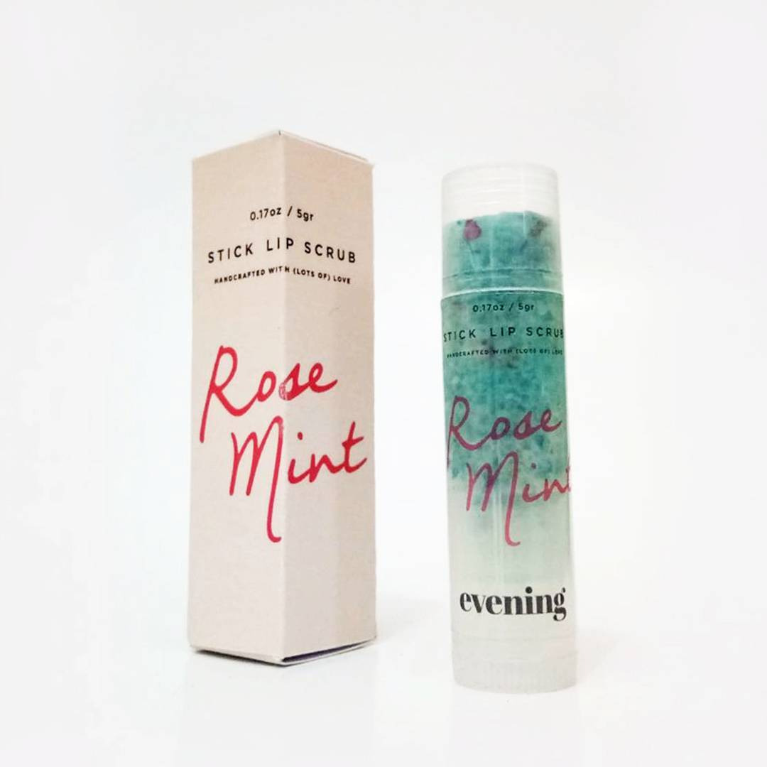 Evening Rose Mint Stick Lip Scrub