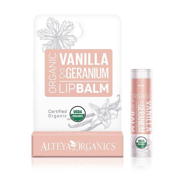 ALTEYA ORGANICS Vanilla Geranium Lip Balm