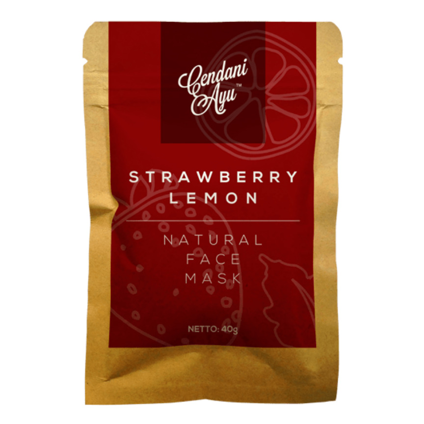Cendani Ayu Strawberry-Lemon Natural Face Mask