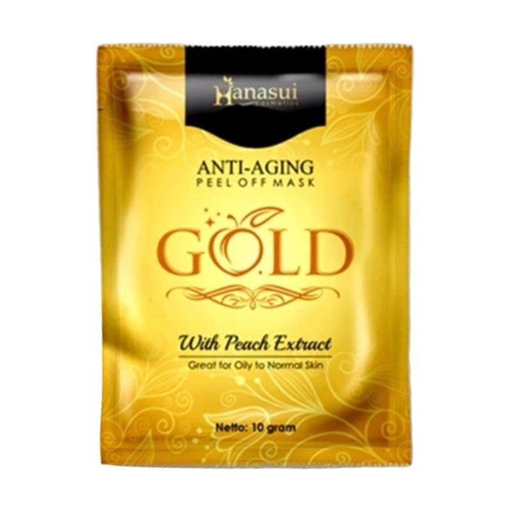 Hanasui Peel Off Mask Gold with Peach Extract
