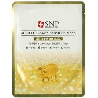 SNP Golden Collagen Ampoule Mask