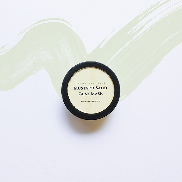 Color Repvblic Mustard Sand Clay Mask - for Dry and Sensitive Skin