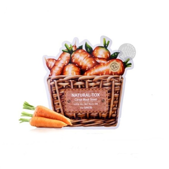 the saem Natural Tox Carrot Mask Sheet