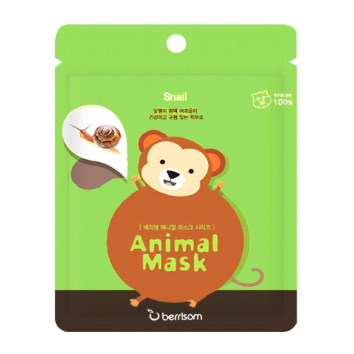 Berrisom Animal Mask Monkey Snail Extract