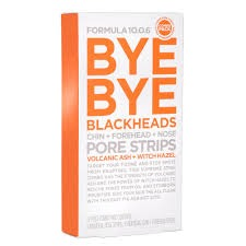 FORMULA 10.0.6 Bye Bye Blackheads Chin + Forehead + Nose Pore Strips 12 pack