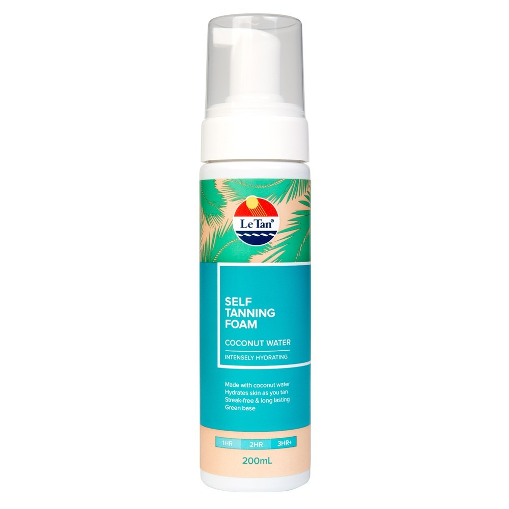 LE TAN Coconut Water Self Tanning Foam