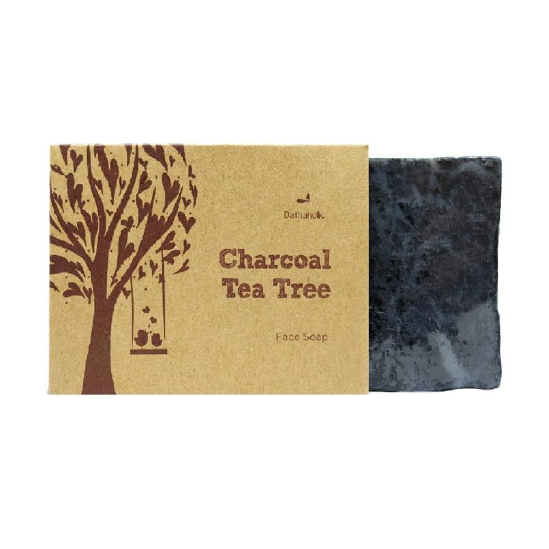 Bathaholic Charcoal Tea Tree Face Soap