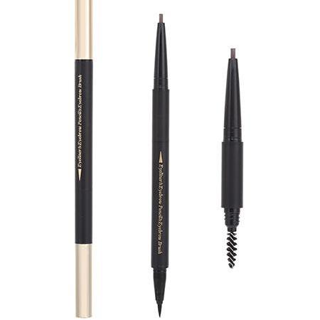 Miniso 3 in 1 Eyeliner Eyebrow Pencil Eyebrow Brush